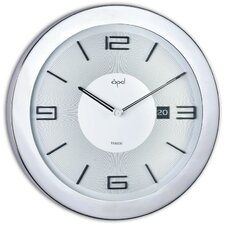 Round Case Clock with Date