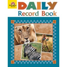 Daily Record Book Safari Edition