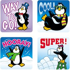 Stickers Penguins 120/pk Acid &