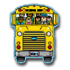 Two-sided Decoration School Bus