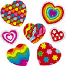 Dazzle Stickers Hearts 105-pk Acid
