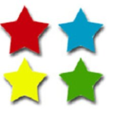 Chart Seals Stars Multicolor 810/pk