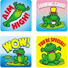 Stickers Frogs 120/pk Acid & Lignin