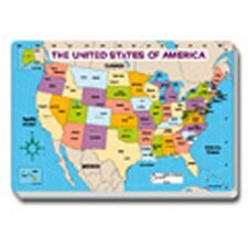 Jumbo Map Pad Us Labeled 30/pk