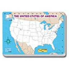 Jumbo Map Pad Us Blank 30/pk