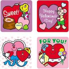 Stickers Valentines Day 120/pk Acid