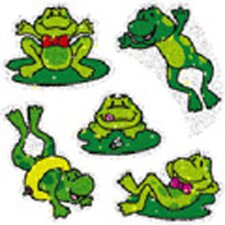 Dazzle Stickers Frogs 75-pk Acid &