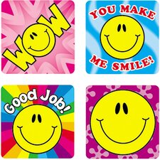 Stickers Smile Fun 120/pk Acid &