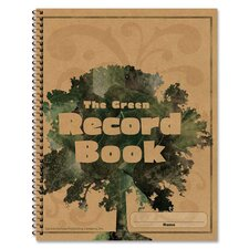 Green Record Book, 96 Pages, 8-1/2x11""