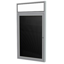 1 Door Aluminum Frame Headliner Letter Bulletin Board