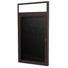 1 Door Aluminum Frame Enclosed Flannel Letterboard