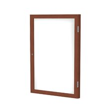 1 Door Wood Frame Enclosed Porcelain Magnetic Whiteboard