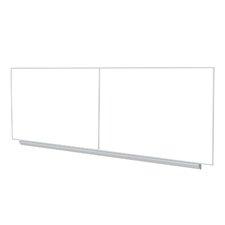 4'x16' Aluminum Frame Premium Porcelain Magnetic Whiteboard - 4 Markers & Eraser