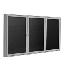 3 Door Aluminum Frame Enclosed Flannel Letterboard