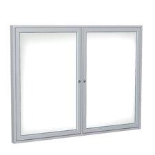 2 Door Aluminum Enclosed Porcelain Magnetic Whiteboard