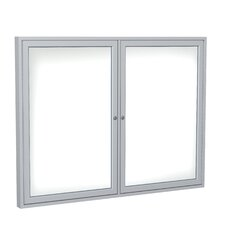 2 Door Aluminum Frame Enclosed Porcelain Magnetic Whiteboard