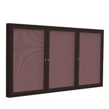 3 Door Aluminum Frame Enclosed Fabric Bulletin Board