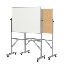 <strong>Ghent</strong> Aluminum Frame Reversible Acrylate Marker/Natural Cork Board