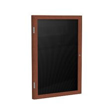 1 Door Wood Frame Enclosed Flannel Letterboard