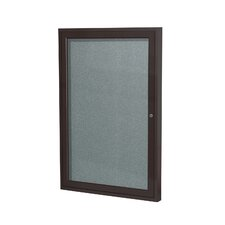 1 Door Outdoor Aluminum Frame Enclosed Vinyl Bulletin Board
