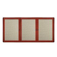 3 Door Ovation Fabric 4' x 6' Bulletin Board