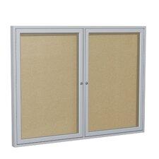 2 Door Enclosed Vinyl Bulletin Board