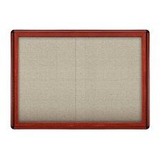 "2 Door Sliding Ovation Fabric 2' 10"" x 3' 11""Bulletin Board"