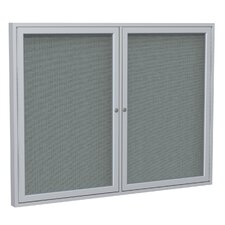 2 Door Aluminum Frame Enclosed Fabric Bulletin Board