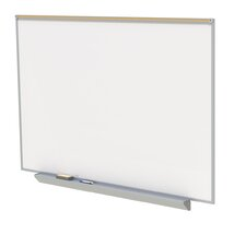 Aluminum Premium Porcelain Magnetic Whiteboard with Map rail - 4 Markers & Eraser
