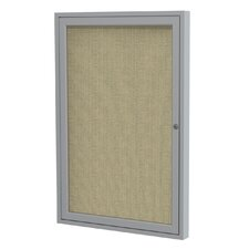 1 Door Aluminum Frame Enclosed Fabric Bulletin Board