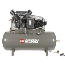 120 Gallon 15 HP Two Stage 3 Phase Fully Packaged Air Compressor with Starter