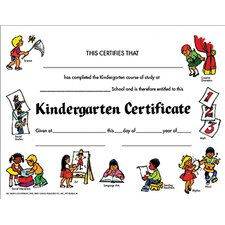 Certificates Kindegarten Set Of 30 (Set of 30)