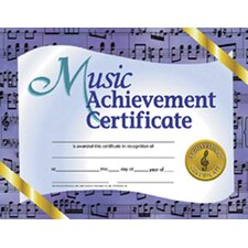 Music Achievement 30/pk 8.5 X 11