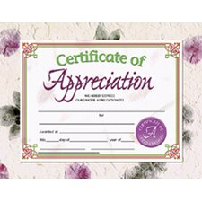 Certificates Of Appreciation 30 Pk