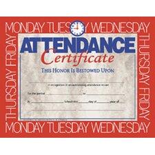 Certificates Attendance 30/pk