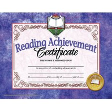 Reading Achievement 30pk 8.5 X 11