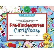 Certificates Pre-kindergarten 30 Pk