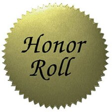 Stickers Gold Honor Roll 50/pk 2