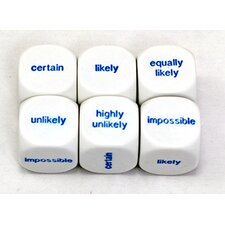 Probability Dice (Set of 6)