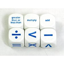 Math Operation Dice (Set of 6)