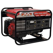 7,500 Watt Portable Gasoline Generator with Electric Start