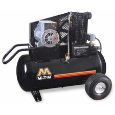 <strong>Mi-T-M</strong> 2 HP Electric / 20 Gallon Single Stage Wheelbarrow Air Compressor