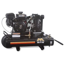 7 HP Gasoline Subaru / 8 Gallon Single Stage Wheelbarrow Air Compressor