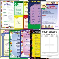 Four Square Writing Method Charts (Set of 8)