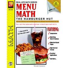 Menu Math Hamburger Hut Book-2
