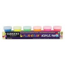 Fluorescent Acrylic Paints 6 Color