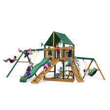 <strong>Gorilla Playsets</strong> Frontier Swing Set with Canvas Green Sunbrella