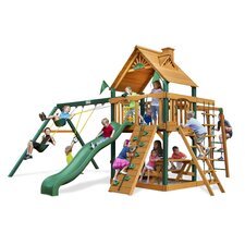 <strong>Gorilla Playsets</strong> Navigator Swing Set with Wood Roof Canopy