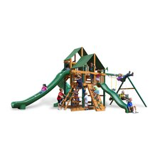 Great Skye II Swing Set with Canvas Green Sunbrella Canopy