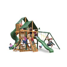 <strong>Gorilla Playsets</strong> Great Skye I Swing Set with Canvas Green Sunbrella Canopy